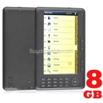 7 inch 8GB E-Book Reader Media Player with FM Radio Voice Recorder