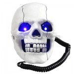New White Skull Shape Phone Telephone