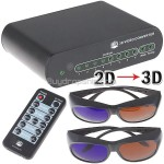 Novel 2D to 3D Conversion Signal Video Converter Box Set for TV DVD