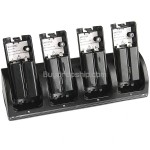 4 in 1 Charging Station Dock 4 Rechargeable Battery for Nintendo Wii