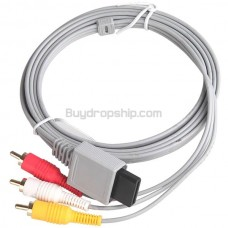 Game Console Composite Audio Video AV Cable RCA Cord for Nintendo Wii