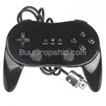 Controller Joystick Gamepad Pro for Nintendo Wii Black