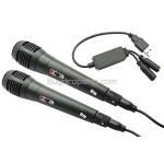 4-in-1 2 Pack Universal USB Karaoke Microphone Set for Wii PS3 PC