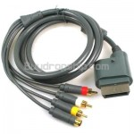 S-Video & 3-RCA Male Composite AV Cable for Xbox 360 6 Feet