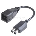 6-Pin to 2 Round Plugs Power Transfer Connection Cable for XBOX 360