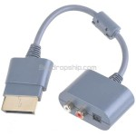 Stereo RCA Audio Digital Audio Adapter Convertor Cable for XBOX 360