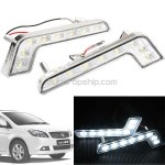2 x 8 LED Daytime Running Light DRL Head Lamp for Car Automobile