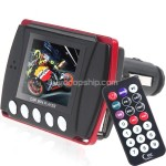 1.8 inch LCD Car MP3 MP4 Player FM Transmitter