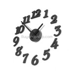 Home DIY Novelty Wall Clock with Sponge Hour Markers