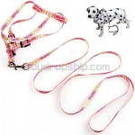 Pet Dog Nylon Leash Lead Strap and Harness for Dog Walk