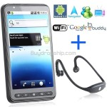 4.25inch 2-Sim Android 2.2 Mobile Cell Phone WiFi TV Bluetooth Headset
