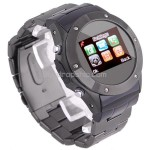 1.2 inch Touch Mobile Cell Phone Watch Bluetooth FM Black