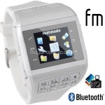 1.2inch Touch Screen 2-SIM Watch Mobile Cell Phone Bluetooth Camera