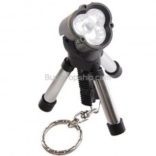 Mini LED Torch Flashlight Light Lamp Keychain with Tripod